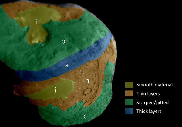 Comet Tempel 1 map