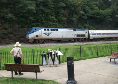 Amtrak train #43 at Horseshoe Curve