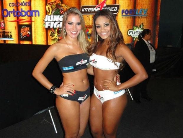 Ex-BBBs Adriana e Jaqueline no Jungle Fight 37 (Foto: Adriano Albuquerque/SporTV.com)