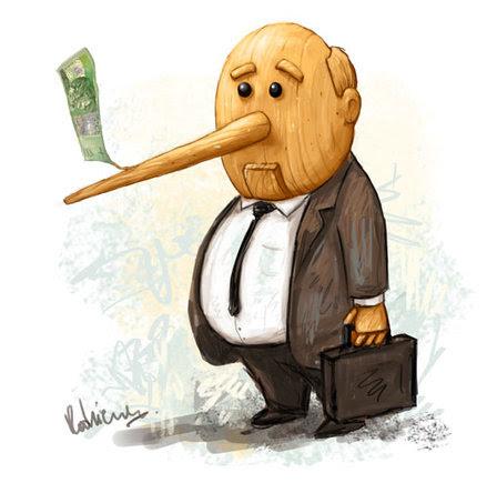 Znalezione obrazy dla zapytania zdjęcia polityków PiS z nosem pinokia