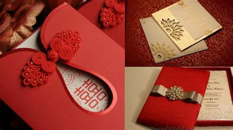 New Fashionable Wedding Cards   Indian wedding card design