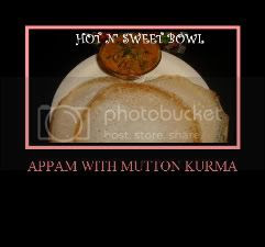 Appam With Mutton Kurma