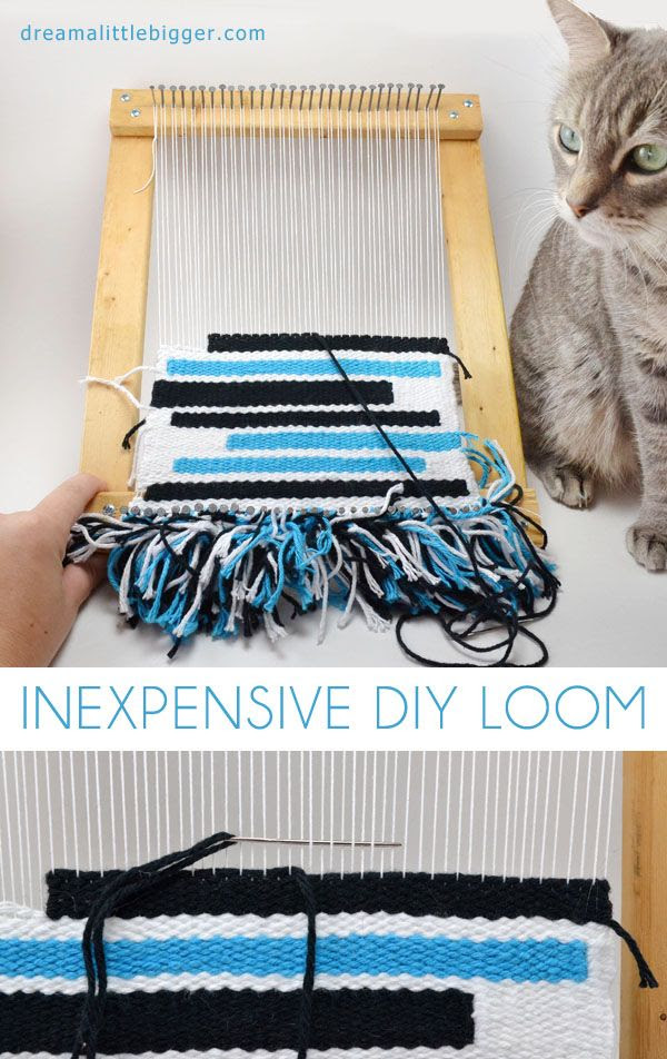Save BIG bucks and make a DIY loom out of stuff you probably already have lying around!