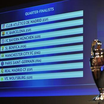 Sorteio Liga dos Campeões (Foto: Reprodução/Twitter)