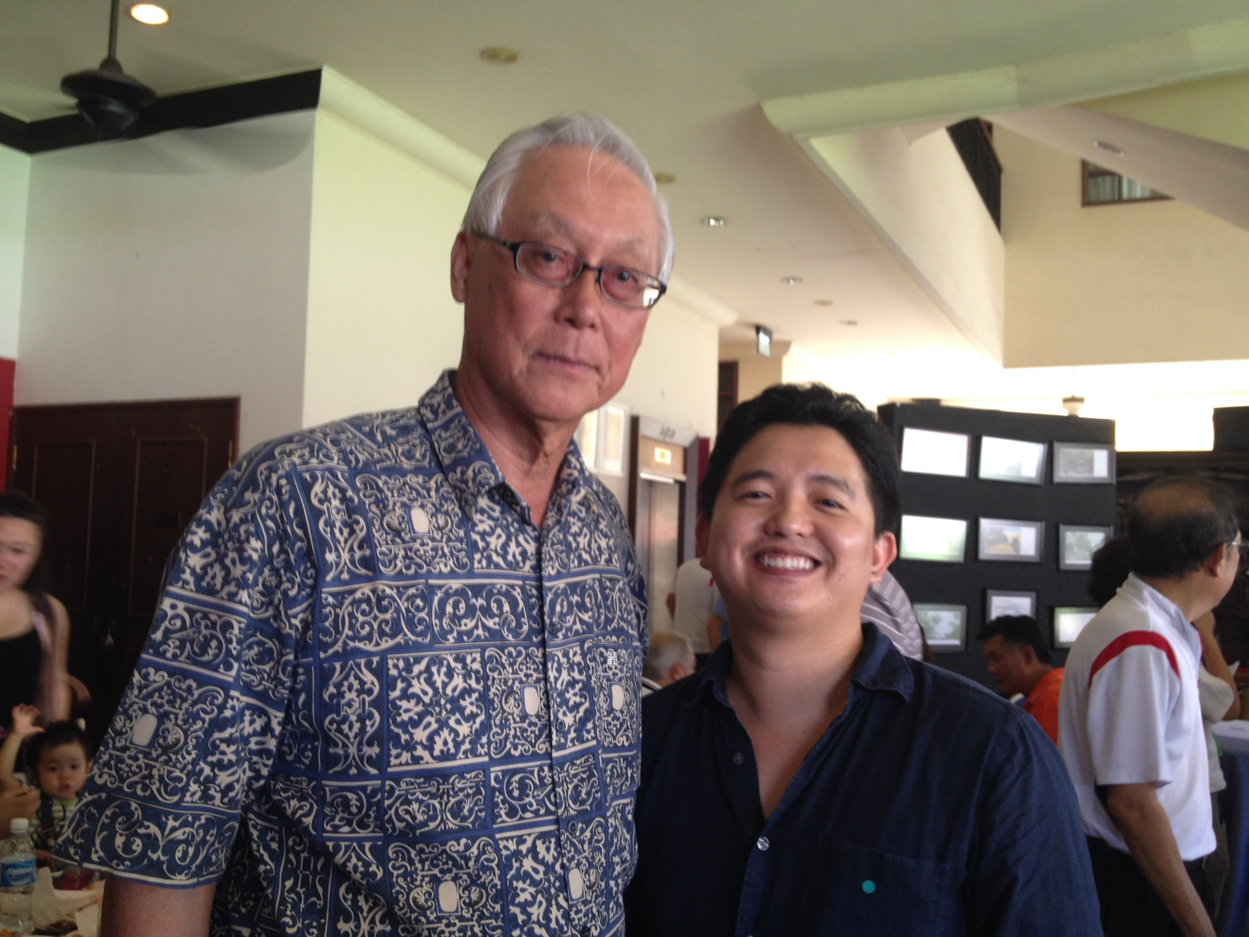 At a luncheon with Emeritus Senior Minister Goh Chok Tong in May 2014