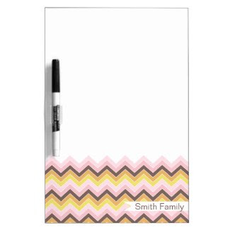 Sweetest {chevron pattern} dry-erase whiteboard