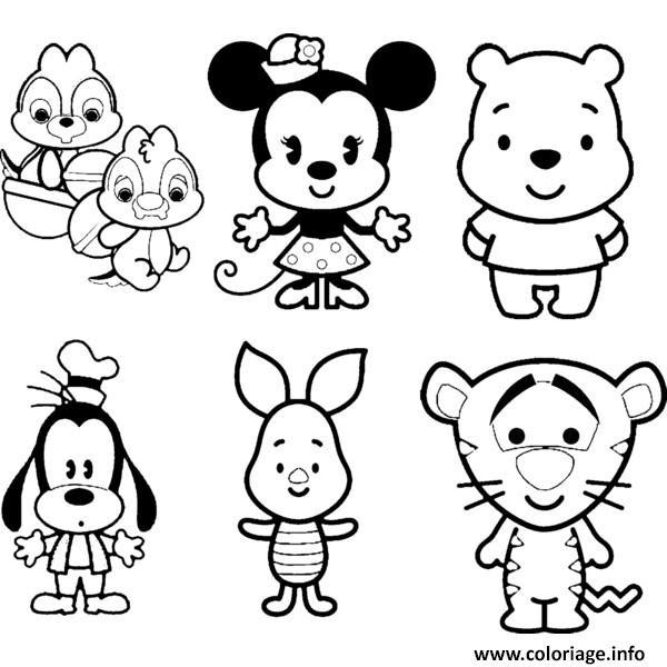 Coloriage Disney Cute Tsum Tsum Jecoloriecom