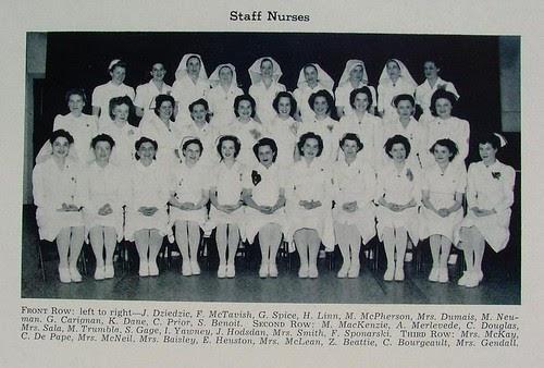 Photofavesflickr Staff Nurses At St Boniface Hospital