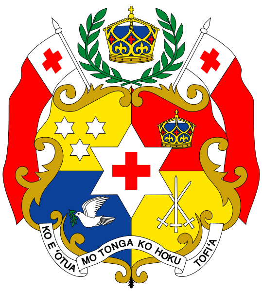 Archivo:Coat of arms of Tonga.svg