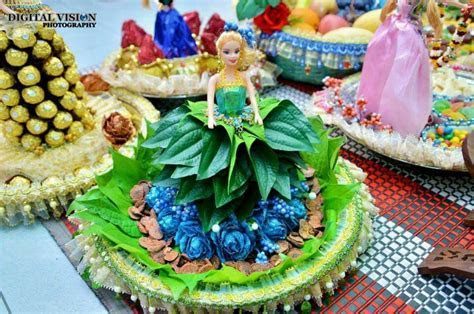 Doll dressed up wit betel leaves :)   For weddings