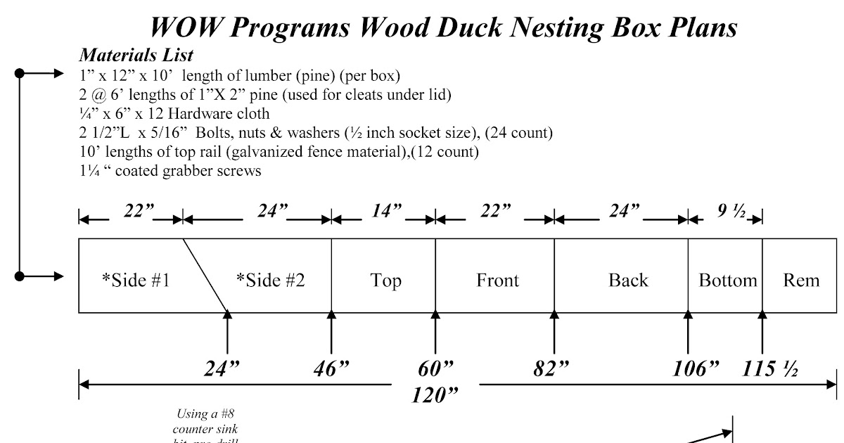 For You Ducks Unlimited Wood Duck Box Plans Tom Wood