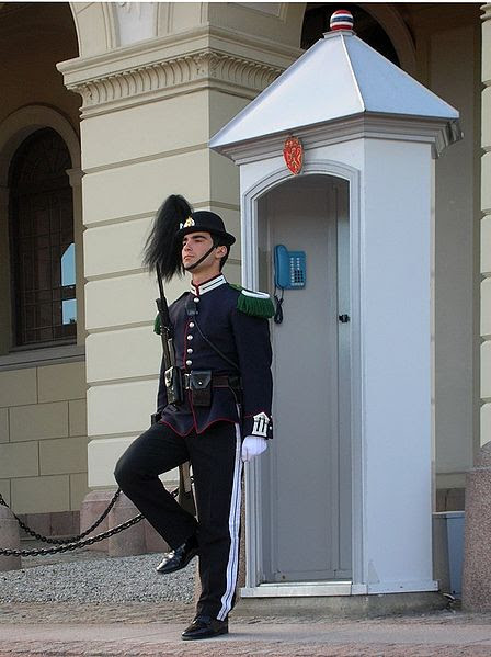 File:Soldier in front of Royal Palace in Oslo.jpg