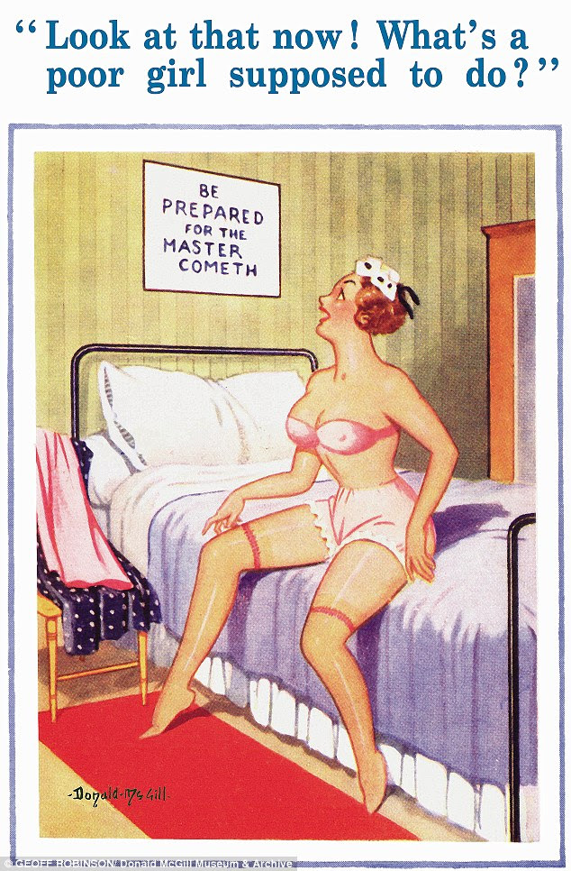 Bawdy: McGill's postcards were always loaded with innuendo