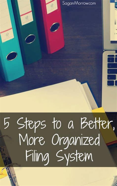 steps     organized filing system