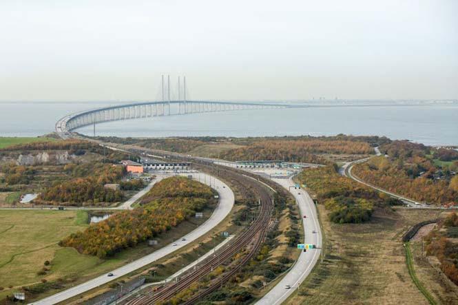 Αυτή η καταπληκτική γέφυρα μετατρέπεται σε τούνελ και συνδέει την Δανία με την Σουηδία (2)