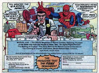 Marvel Age house ad