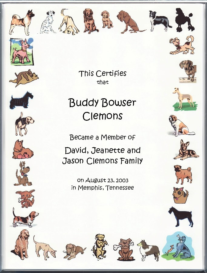 Pet Adoption Certificate Printable Pet S Gallery