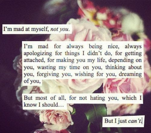 I Am Mad At Myself Not You Pictures Photos And Images For Facebook