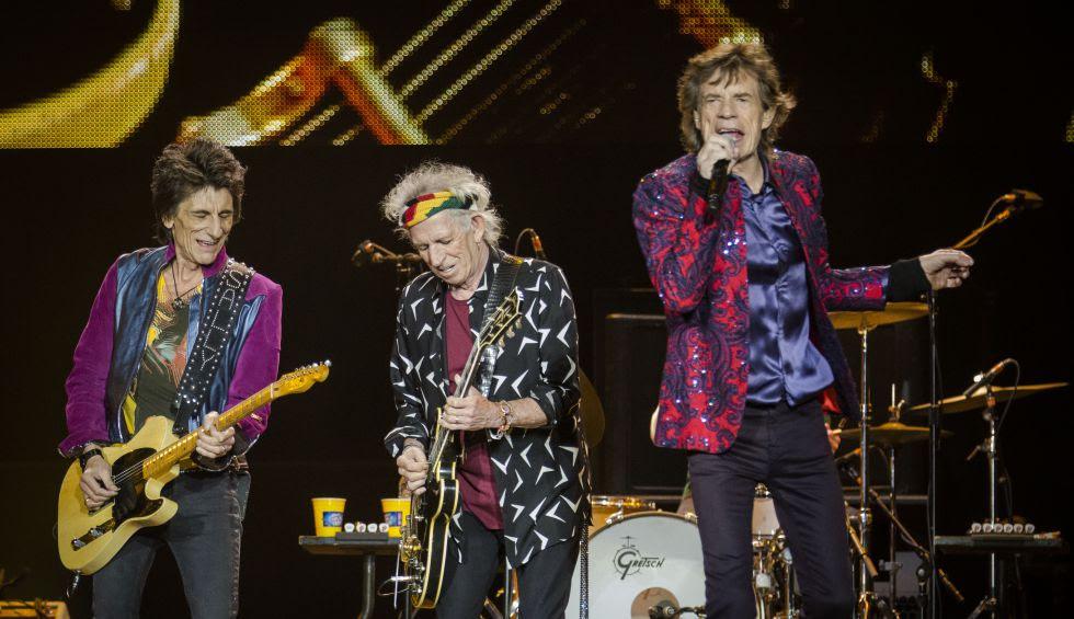 The Rolling Stones en un concierto en la Ciudad de México.