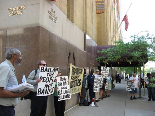 Abayomi Azikiwe, editor of the Pan-African News Wire, covering a demonstration organized by the Moratorium NOW! Coalition on May 29, 2009 in downtown Detroit. (Photo: Alan Pollock) by Pan-African News Wire File Photos