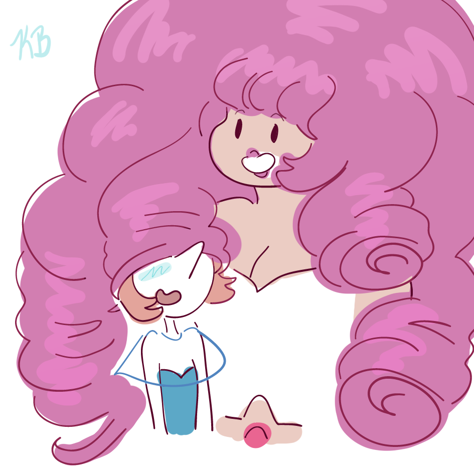 wut It occurred to me once that Rose's curls were so big that Pearl could wear one as a hat