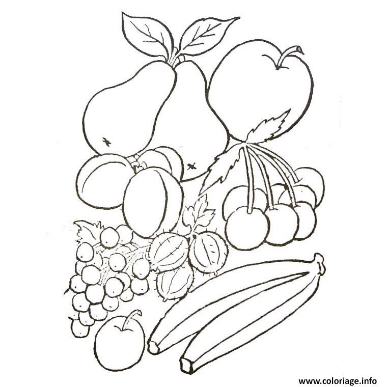 Coloriage Fruits Et Legumes D Automne Jecoloriecom