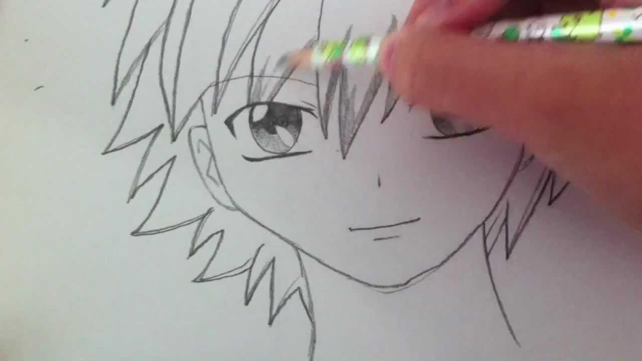 Drawing a Basic Manga Boy - YouTube