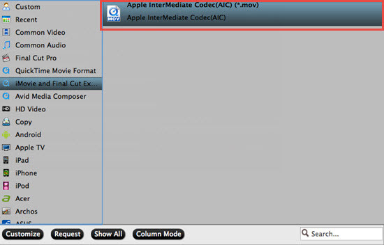 Output iMovie best supported AIC format