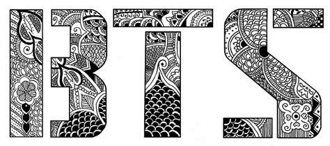 bts bangtan boys henna design logo  cammy redbubble