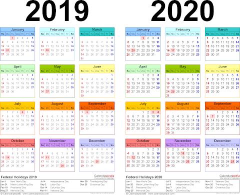 2020 Calendar Excel With Singapore Holidays