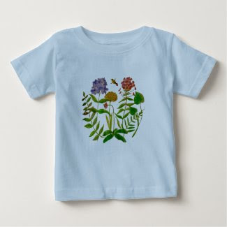 Infant T-Shirt with Botanical Illustration
