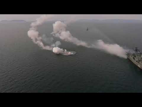 Watch: Kalibr Cruise Missile Spirals Out of Control in Test By Russia's Marshal Shaposhnikov Warship