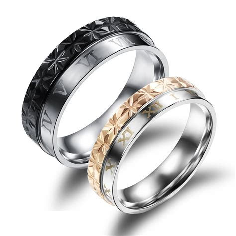New Roman Numerals Couple Rings ? EverMarker