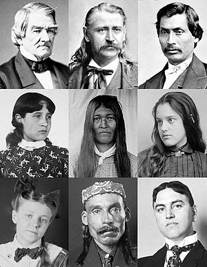 English: Collage of Cherokee men and women fro...