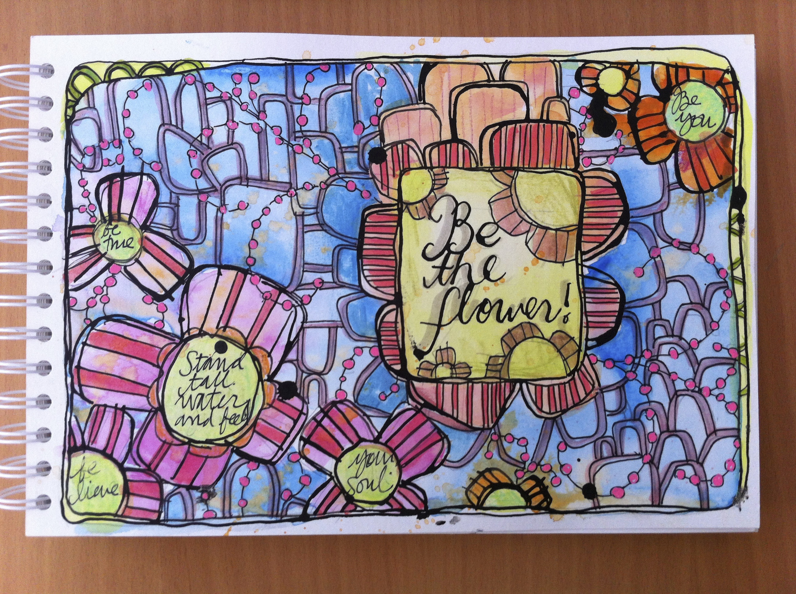 Be the Flower Art Journal