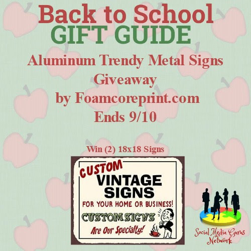 Metal Signs Giveaway banner
