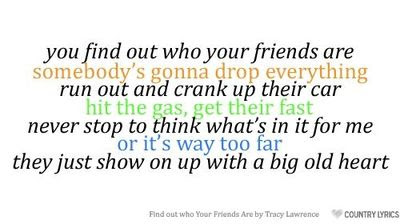 Find Out Who Your Friends Are Tracy Lawrence Inspiring Quotes And