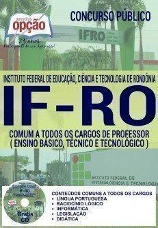 Apostila Concurso IFRO Rondônia 2015 Professor Docente