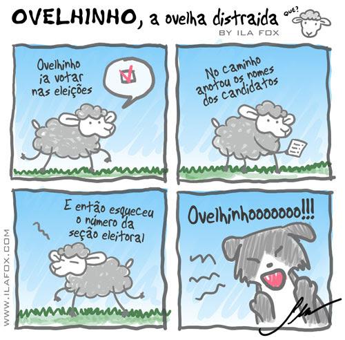 carneiro ovelha, ovelhinho a ovelha vai votar - quadrinhos by ila fox