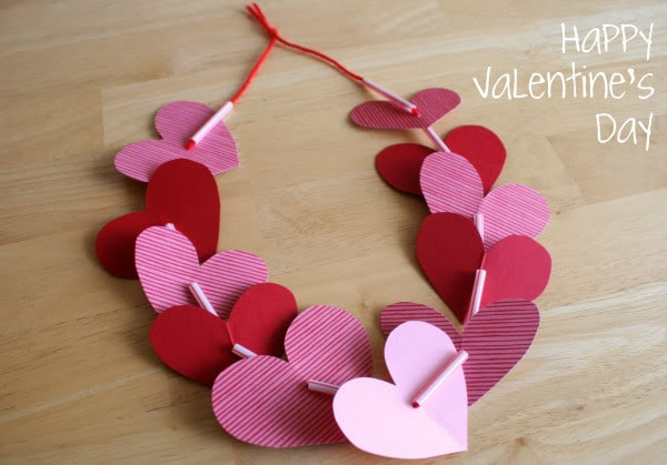 Heart necklace paper craft
