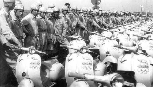official Vespa-riders Rome Olympics 1960 by Gerardone