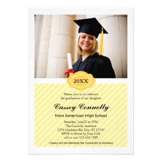 Ornate Date Modern Photo Graduation Invitation