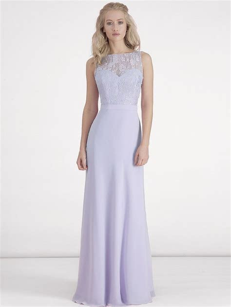 Chiffon and Lace Dress; Color: Pastel Lilac; Sizes