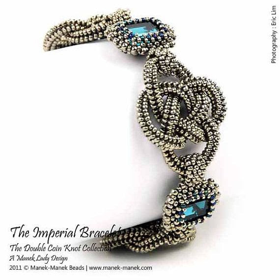 eTUTORIAL The Double Coin Knot Imperial Bracelet by maneklady