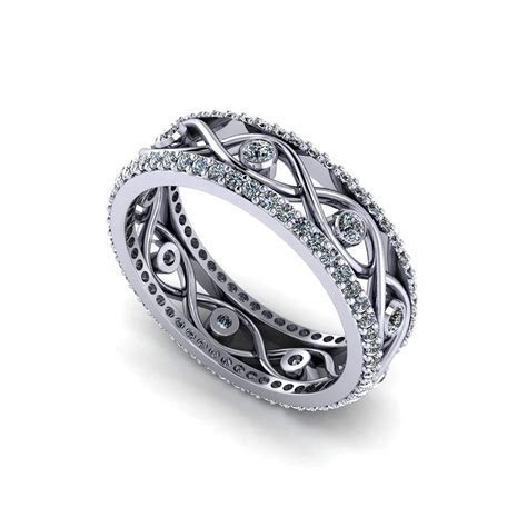 Infinity Eternity Wedding Ring   Jewelry Designs