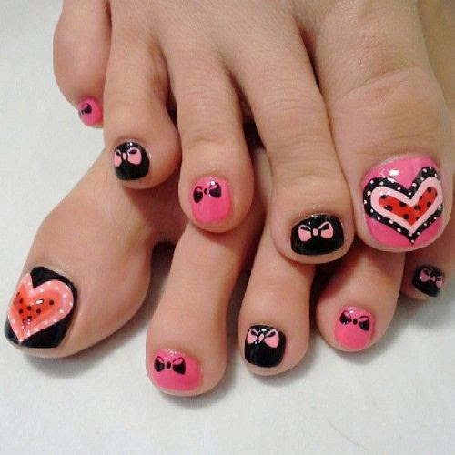 Simple nail art designs for beautiful feet - NAILKART.com