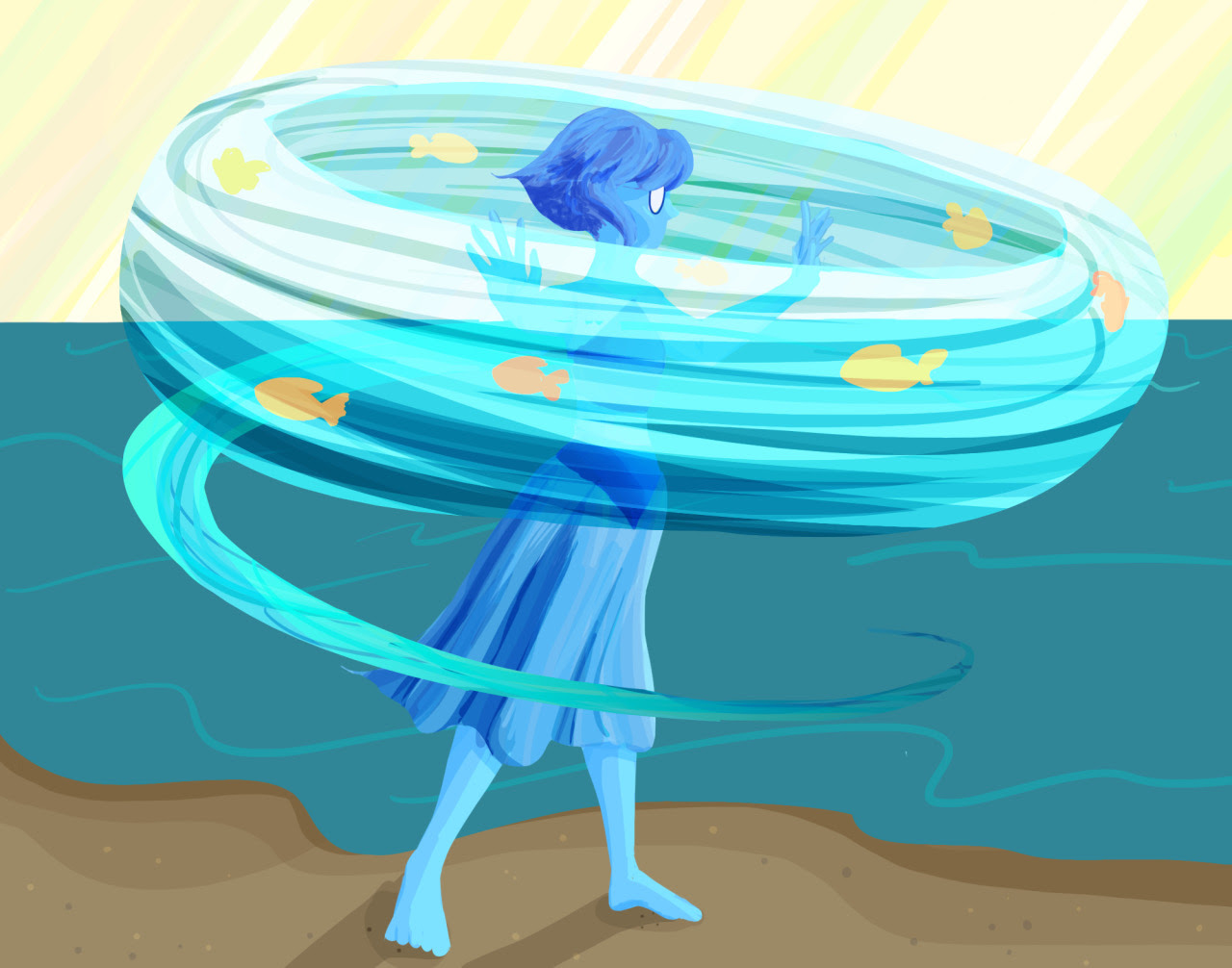 i had an urge to draw something earlier and lapis was the one I knew wouldn't give me a hard time [redbubble]