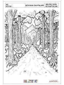 Orman Haftası Boyama Sayfaları