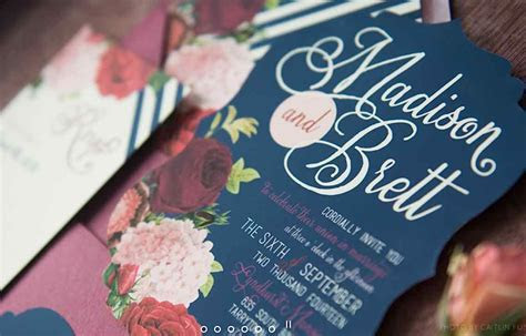 21 Chic Minimalistic Wedding Invitations   MODwedding