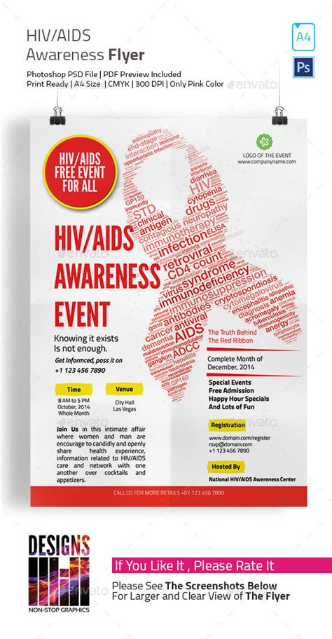 hiv aids brochure templates hiv  aids awareness flyer